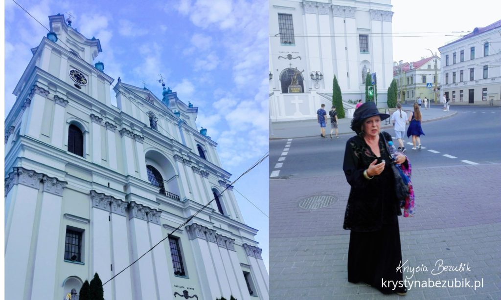 Bazylika katedralna św.Franciszka Ksawerego wGrodnie ; Renata Kretówna (filmowa Kirłowa)